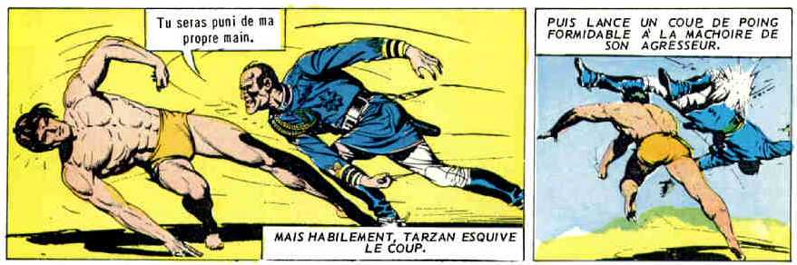 TARZAN EN FRANCIA BY BURNE HOGARTH